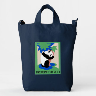 Panda Bear Zoo Poster Bag