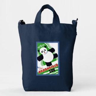 Panda Bear Zoo Poster Canvas Tote Bag