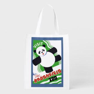Panda Bear Zoo Poster Tote Bag