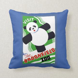 Panda Bear Zoo Throw Pillow