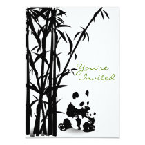 Panda Bears and Bamboo Baby Shower Invitation