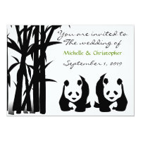 Panda Bears and Bamboo Wedding Invitation