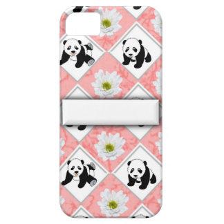 Panda Bears and Checker Board Design iPhone SE/5/5s Case