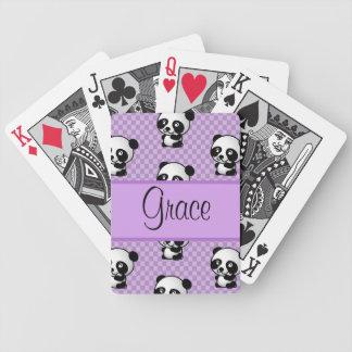 Panda Bears Bicycle Playing Cards