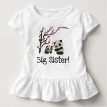 Panda Bears Big Sister Toddler T-shirt