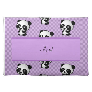 Panda Bears Cloth Placemat