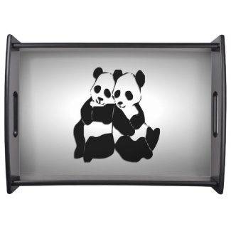 Panda Bears Food Trays