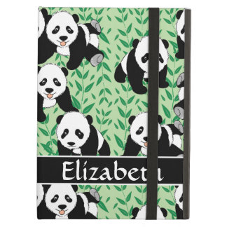 Panda Bears Graphic Pattern to Personalize Cover For iPad Air