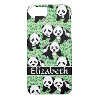 Panda Bears Graphic to Personalize iPhone 8/7 Case