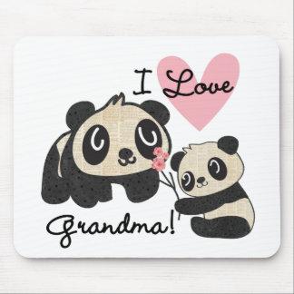 Panda Bears I Love Grandma Mouse Pad