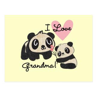 Panda Bears I Love Grandma Postcard