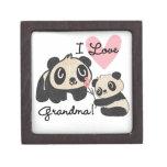 Panda Bears I Love Grandma Premium Keepsake Box