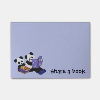 Panda Bears Storytime Post-it Notes