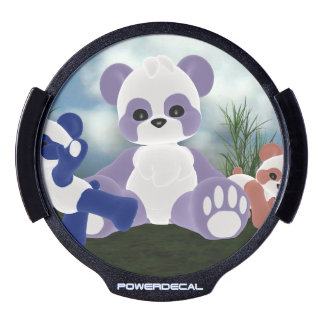 Panda Bearz Sunny Day LED Car Decal