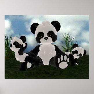 Panda Bearz Sunny Day Poster