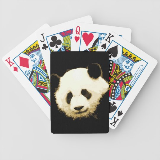 Panda Bicycle Playing Cards