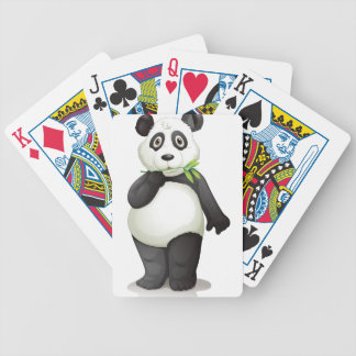 panda bicycle playing cards
