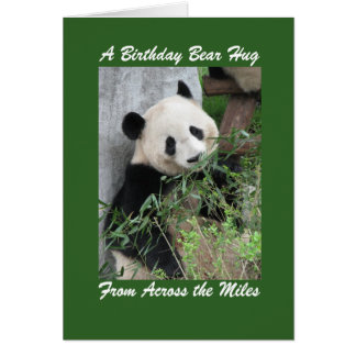 Panda Birthday Bear Hug Across the Miles Green Card