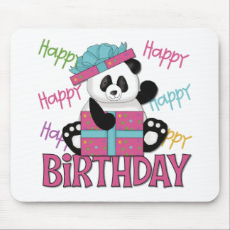Panda Birthday Mouse Pad