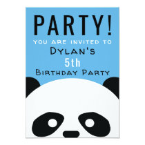 Panda Birthday Party Kids Pink Boys Invitation