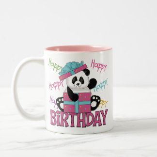 Panda Birthday Two-Tone Coffee Mug