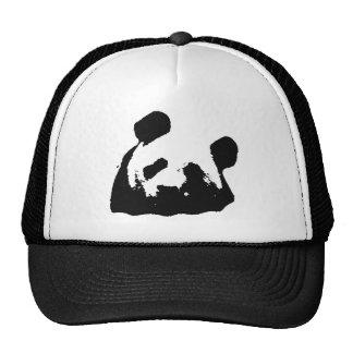 Panda blanca negra del arte pop gorras