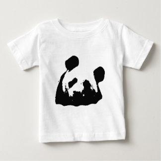 Panda blanca negra del arte pop playeras