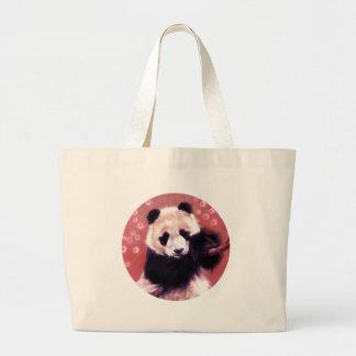 Panda Blossom Canvas Bag