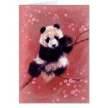 Panda Blossom Greeting Card
