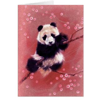Panda Blossom Greeting Cards
