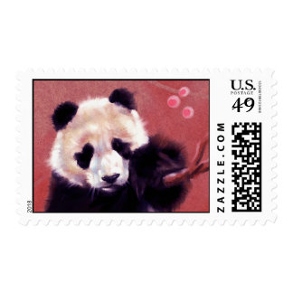 Panda Blossom (horizontal) Stamps
