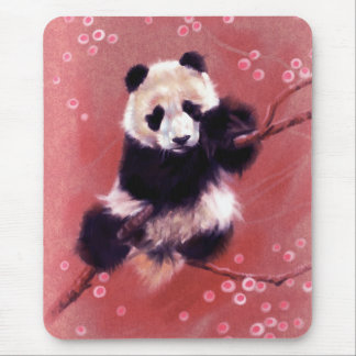 Panda Blossom Mouse Pad