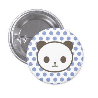 panda blue pinback button