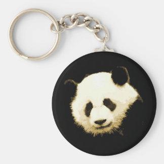 Panda bonita llavero redondo tipo pin
