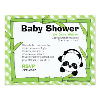 Panda-Boo 4.25x5.5 Paper Invitation Card