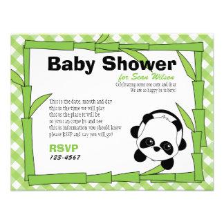 Panda-Boo Custom Invitation
