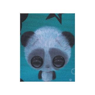 Panda borrosa de la burbuja impresion de lienzo