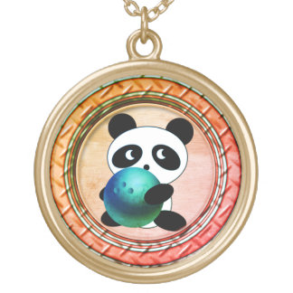 Panda Bowler Gold Plated Necklace