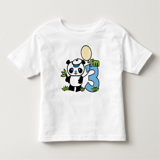Panda Boy 3rd Birthday Toddler T-shirt