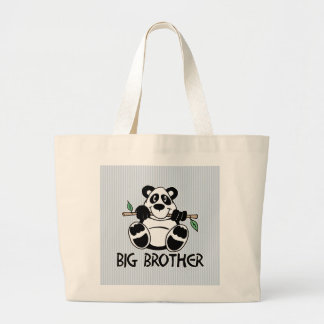 Panda Boy Big Brother Large Tote Bag