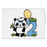 Panda Boy First Birthday Invitations Cards