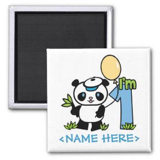 Panda Boy First Birthday Magnet