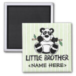 Panda Boy Little Brother Refrigerator Magnets