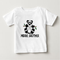 Panda Boy Middle Brother Baby T-Shirt