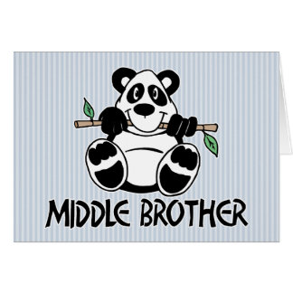 Panda Boy Middle Brother Card