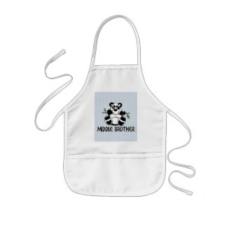 Panda Boy Middle Brother Kids' Apron