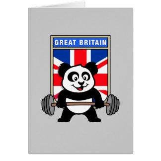 Panda BRITÁNICA del levantamiento de pesas Tarjeta De Felicitación