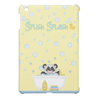 Panda Bubble Bath Time Nursery Yellow Baby Blue Cover For The iPad Mini