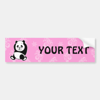 Panda bumper sticker car bumper sticker