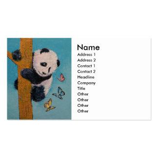 Panda Butterflies Business Card Template